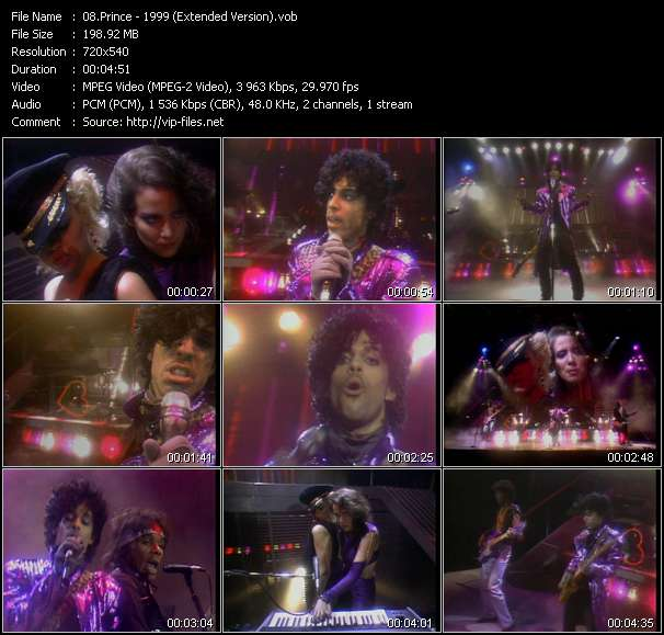 Prince HQ Videoclip «1999 (Extended Version)»