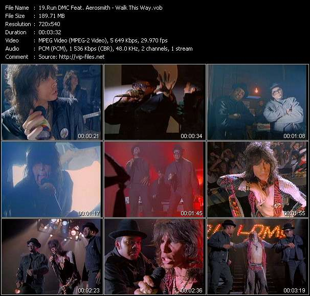 Run DMC Feat. Aerosmith HQ Videoclip «Walk This Way»