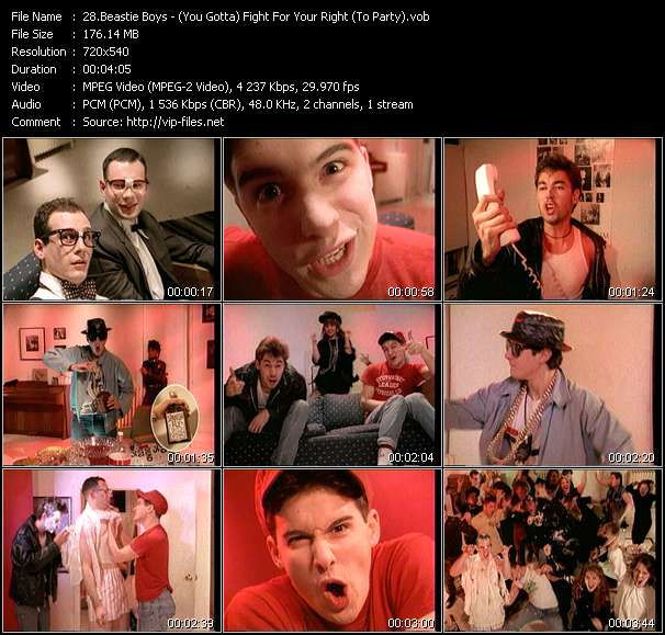 Beastie Boys HQ Videoclip «(You Gotta) Fight For Your Right (To Party)»