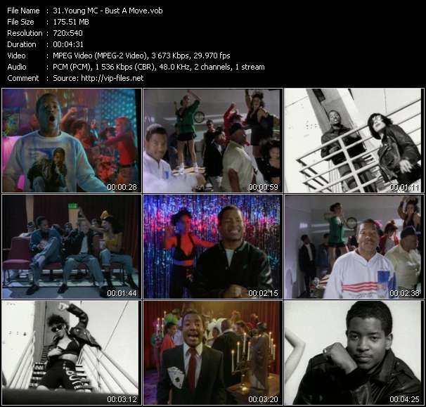 Young MC HQ Videoclip «Bust A Move»