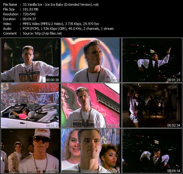 Vanilla Ice HQ Videoclip «Ice Ice Baby (Extended Version)»