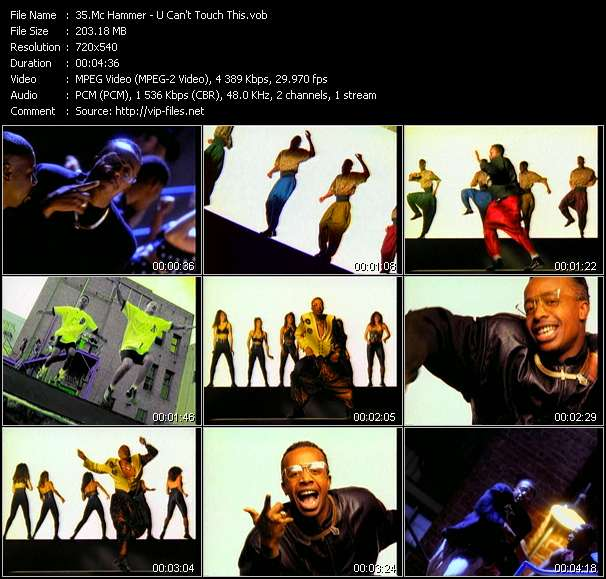 Mc Hammer HQ Videoclip «U Can't Touch This»