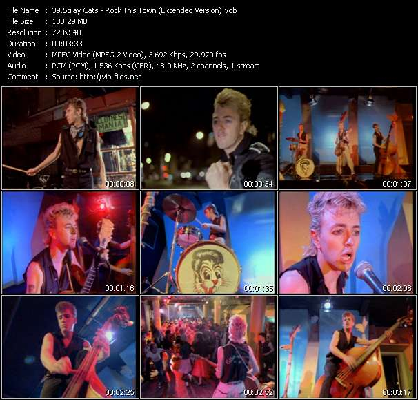 Stray Cats HQ Videoclip «Rock This Town (Extended Version)»