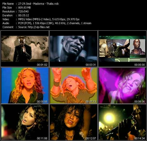 Seal - Madonna - Thalia HQ Videoclip «Get It Together (Bill Hamel Club Edit) - Ray Of Light (Victor Calderone 12 Inch Edit) - Baby, I'm In Love (Norty Cotto Club Edit)»