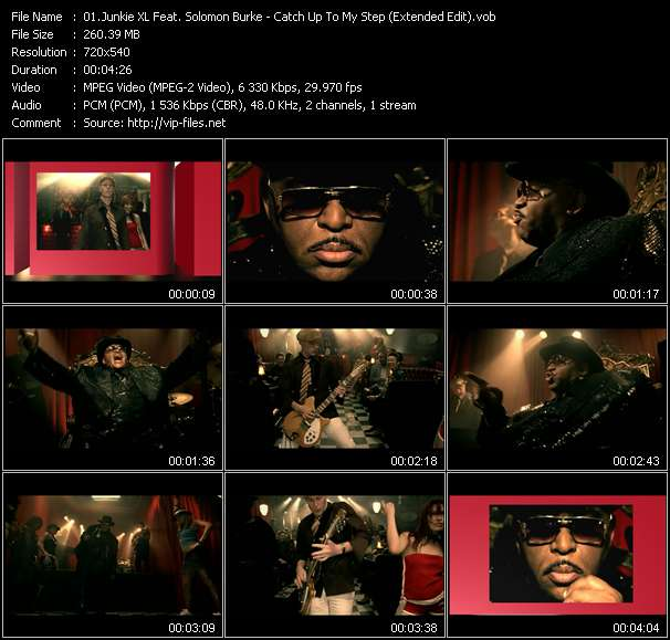 Junkie XL Feat. Solomon Burke HQ Videoclip «Catch Up To My Step (Extended Edit)»
