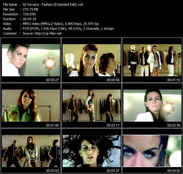 Roxane HQ Videoclip «Fashion (Extended Edit)»