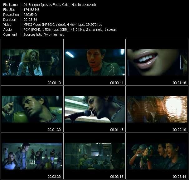 Enrique Iglesias Feat. Kelis HQ Videoclip «Not In Love»