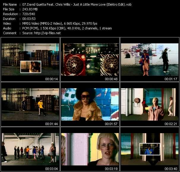 David Guetta Feat. Chris Willis HQ Videoclip «Just A Little More Love (Elektro Edit)»