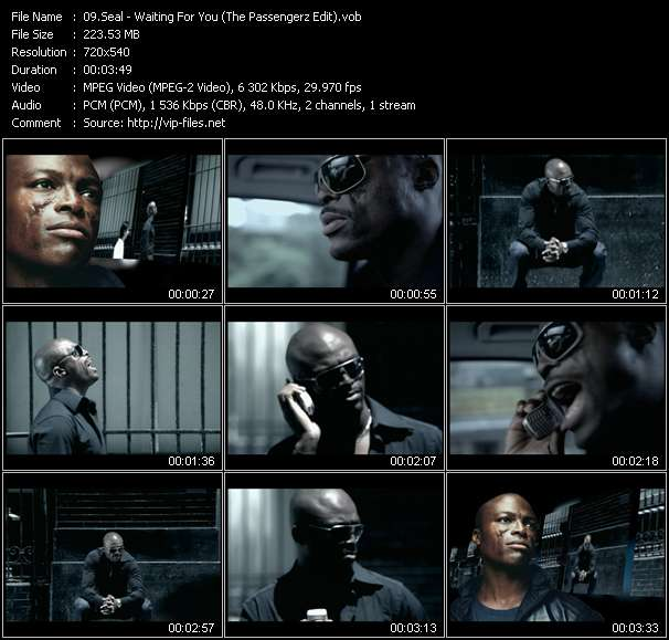 Seal HQ Videoclip «Waiting For You (The Passengerz Edit)»