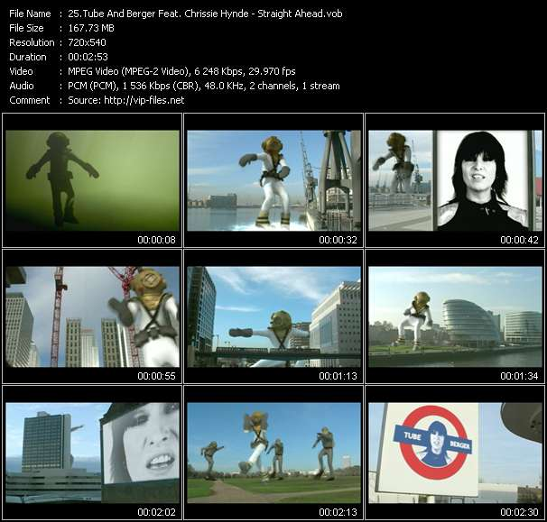 Tube And Berger Feat. Chrissie Hynde HQ Videoclip «Straight Ahead»