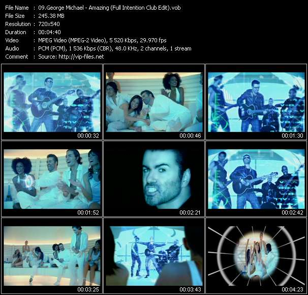 George Michael HQ Videoclip «Amazing (Full Intention Club Edit)»