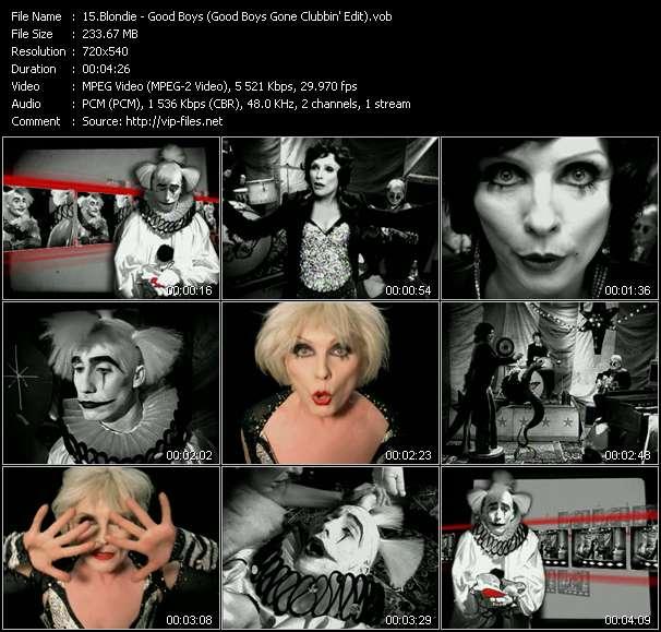 Blondie video - Good Boys (Good Boys Gone Clubbin' Edit)