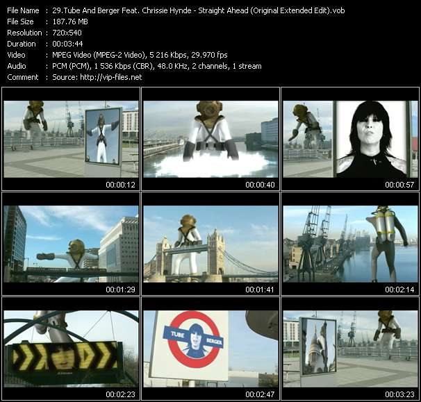 Tube And Berger Feat. Chrissie Hynde video - Straight Ahead (Original Extended Edit)