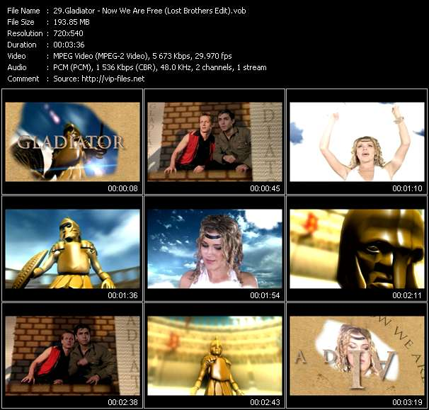 Gladiator HQ Videoclip «Now We Are Free (Lost Brothers Edit)»