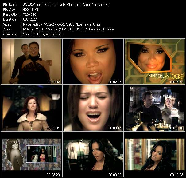 Kimberley Locke - Kelly Clarkson - Janet Jackson HQ Videoclip «8th World Wonder (Hi Bias Extended Club Edit) - The Trouble With Love Is (Bermudaz And Bertaldo Mix Show Edit) - I Want You (E-Smoove Remix Main Edit)»