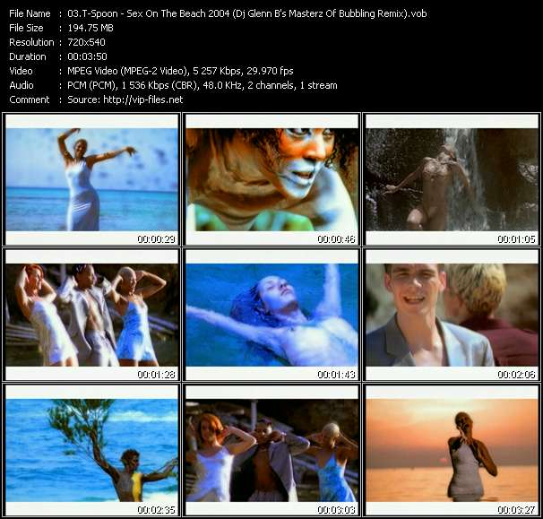 T-Spoon HQ Videoclip «Sex On The Beach 2004 (Dj Glenn B's Masterz Of Bubbling Remix)»