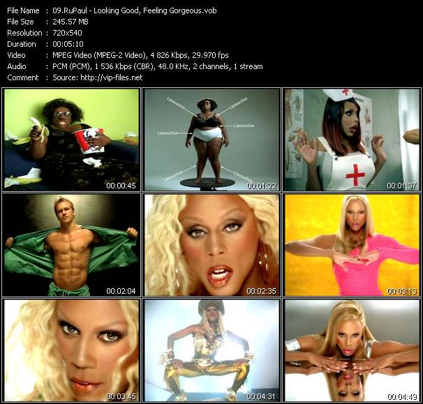 RuPaul video - Looking Good, Feeling Gorgeous