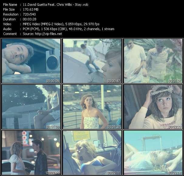 David Guetta Feat. Chris Willis HQ Videoclip «Stay»