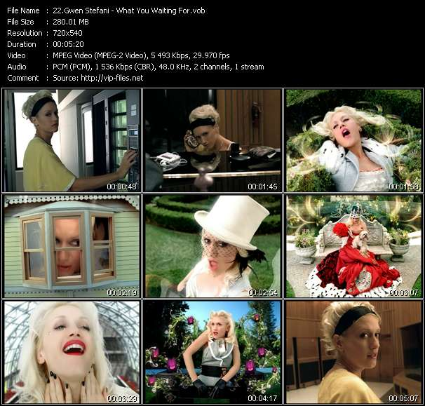 Gwen Stefani video - What You Waiting For?