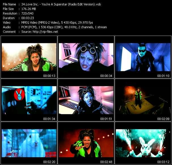Love Inc. video - You're A Superstar (Radio Edit Version)