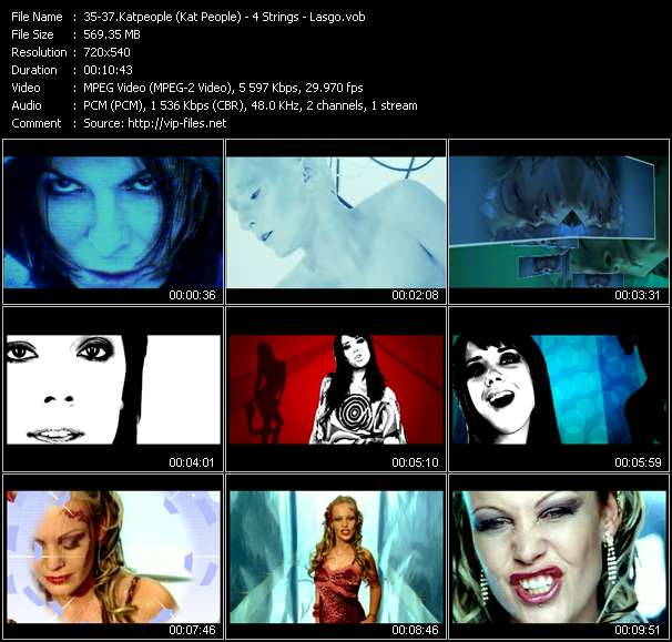 Katpeople (Kat People) - 4 Strings - Lasgo HQ Videoclip «Freefalling (Disco Brothers Mix) - Turn It Around (Sandler Vocal Remix Edit) - Surrender (Cor Fijneman Remix)»