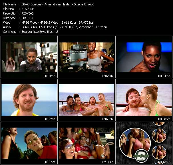 Sonique - Armand Van Helden - Special D HQ Videoclip «It Feels So Good (Ultimix Edit) - My, My, My (Breaks And Wizard Mix) - Nothing I Won't Do (Club Edit)»