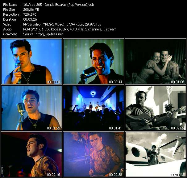 Area 305 HQ Videoclip «Donde Estaras (Pop Version)»