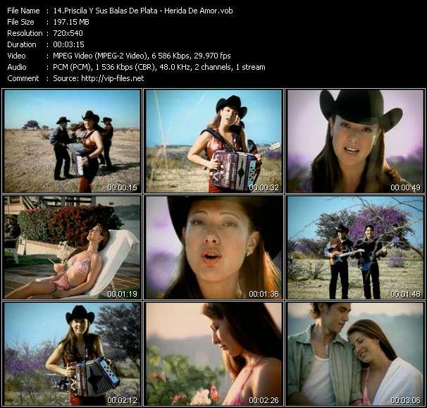 Priscila Y Sus Balas De Plata HQ Videoclip «Herida De Amor»