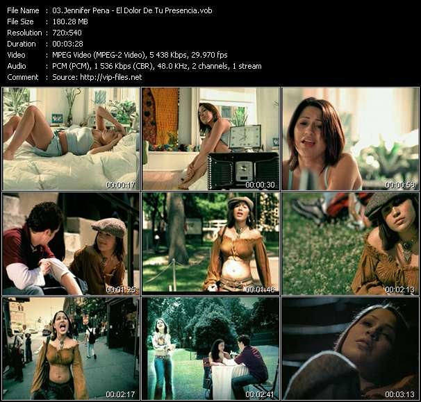 Jennifer Pena video - El Dolor De Tu Presencia