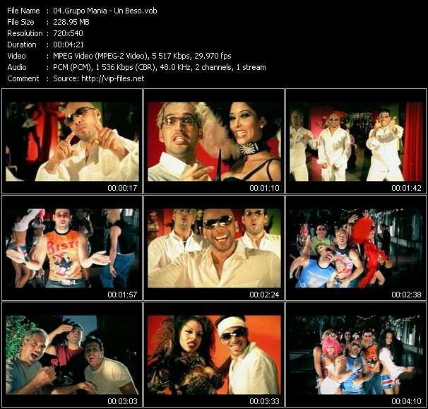 Grupo Mania video - Un Beso