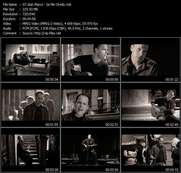 Gian Marco video - Se Me Olvido