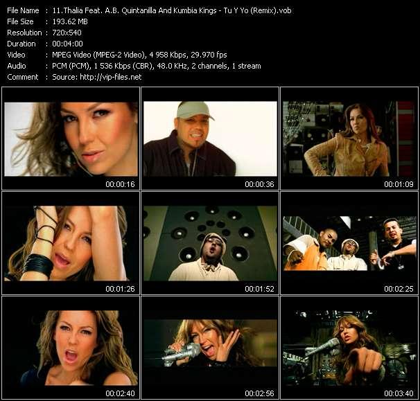 Thalia Feat. A.B. Quintanilla And Kumbia Kings HQ Videoclip «Tu Y Yo (Remix)»