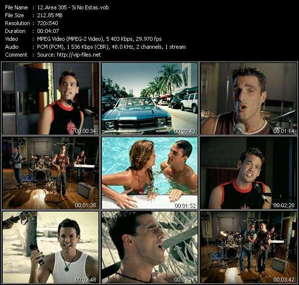Area 305 HQ Videoclip «Si No Estas»