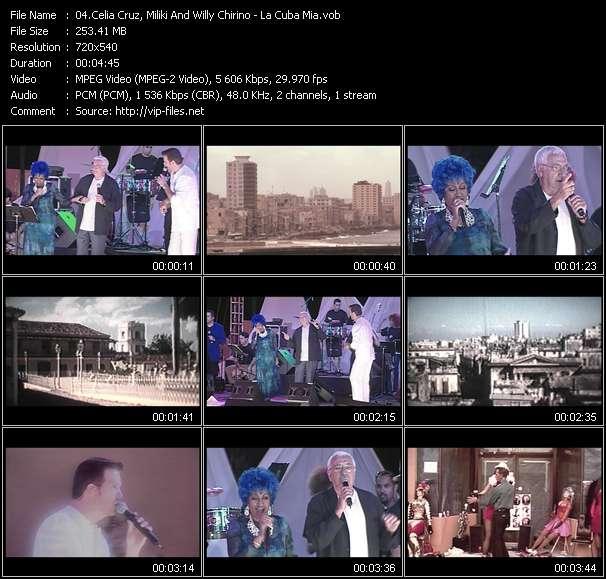 Celia Cruz, Miliki And Willy Chirino HQ Videoclip «La Cuba Mia»