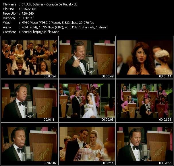 Julio Iglesias HQ Videoclip «Corazon De Papel»