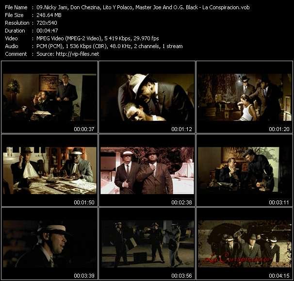 "Nicky Jam, Don Chezina, Lito Y Polaco, Master Joe And O.G. Black HQ Videoclip «La Conspiracion (From ""La Conspiracion 2 - La Secuela"")»"