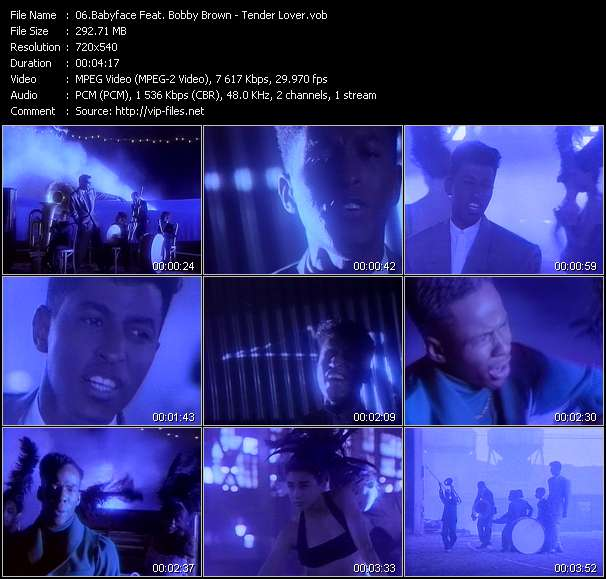 Babyface Feat. Bobby Brown HQ Videoclip «Tender Lover»