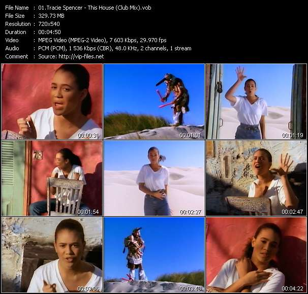 Tracie Spencer video - This House (Club Mix)