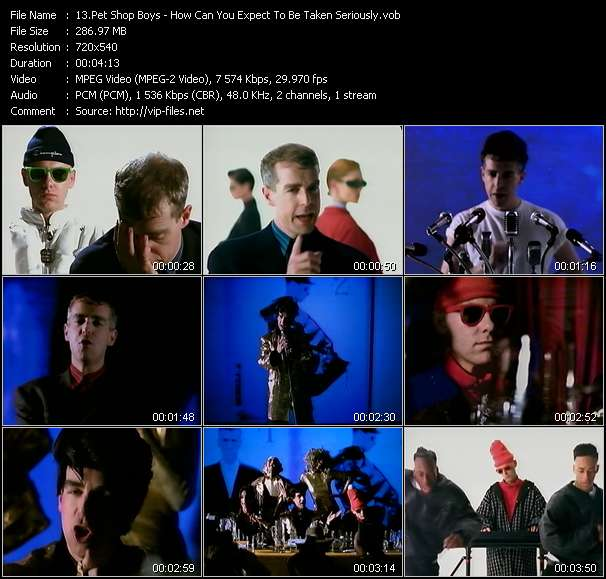 Pet Shop Boys HQ Videoclip «How Can You Expect To Be Taken Seriously?»