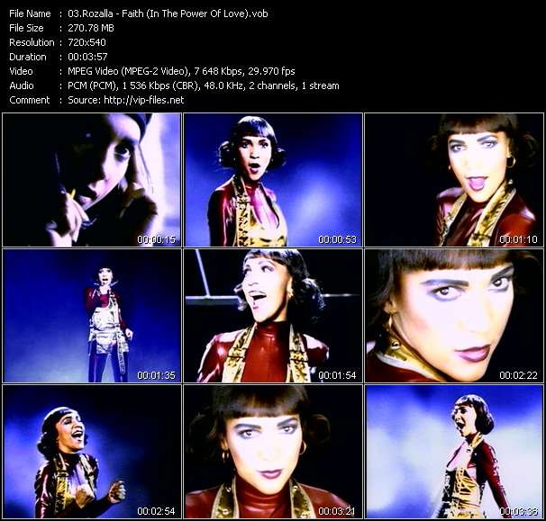 Rozalla video - Faith (In The Power Of Love)