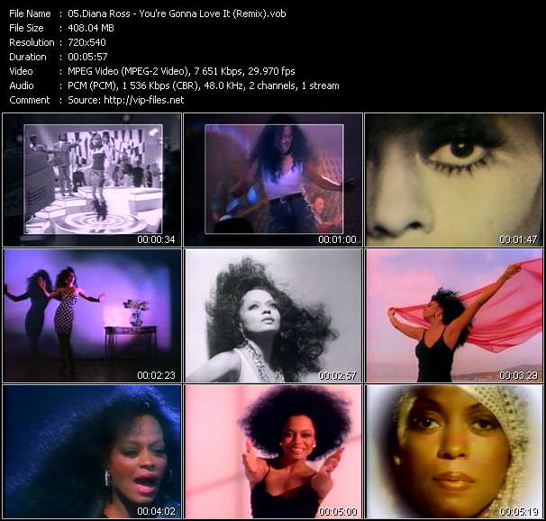 Diana Ross video - You're Gonna Love It (Remix)