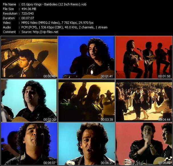 Gipsy Kings video - Bamboleo (12 Inch Remix)