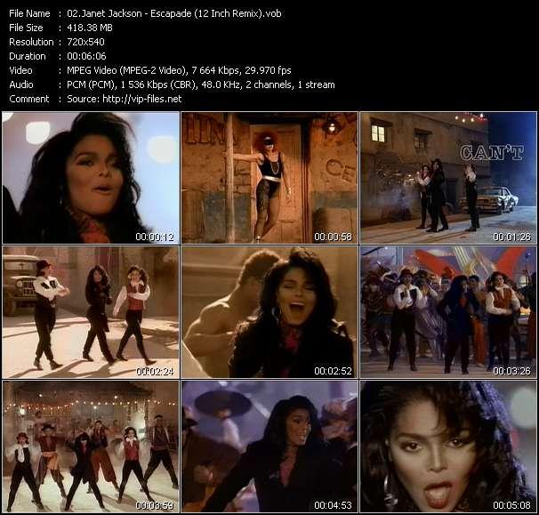 Janet Jackson HQ Videoclip «Escapade (12 Inch Remix)»