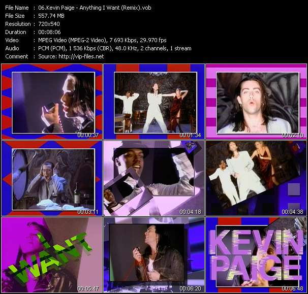 Kevin Paige HQ Videoclip «Anything I Want (Remix)»