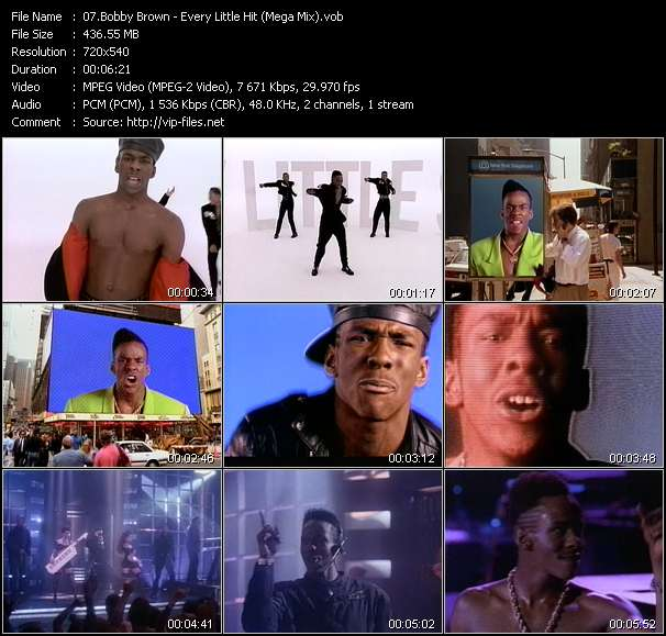 Bobby Brown HQ Videoclip «Every Little Hit (Mega Mix)»