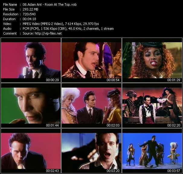 Adam Ant HQ Videoclip «Room At The Top»