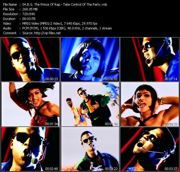 B.G. The Prince Of Rap video - Take Control Of The Party