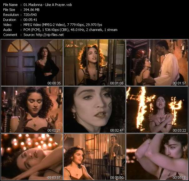 Madonna video - Like A Prayer