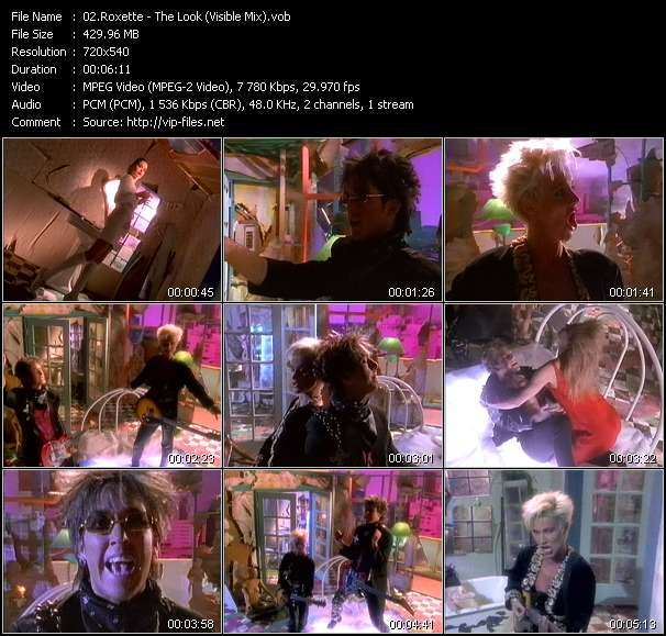 Roxette video - The Look (Visible Mix)