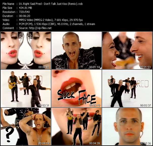 Right Said Fred video - Don't Talk Just Kiss (Remix)